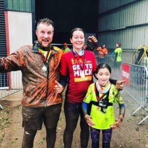 Family Todds Leap Mud Run
